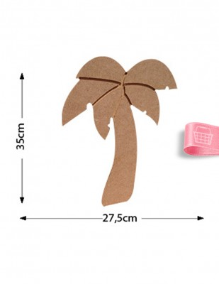 - Ahşap Palmiye Ağacı - Büyük Boy Ahşap Palmiye Objesi - KD30T