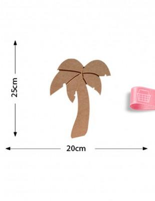 - Ahşap Palmiye Ağacı - Palmiye Ağacı Objesi - KD31T