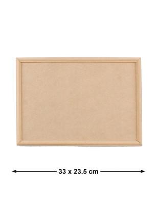 - Ahşap Pano Çerçeve, Kenarları Dekoratif Çıtalı - 33 x 23,5 cm - KPA34T