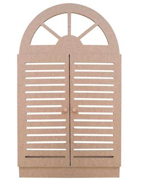 - Ahşap Panjurlu Pencere - Panjurlu Pencere Ahşap Duvar Süsü - KCH12T (1)