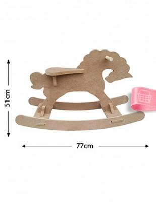 - Ahşap Sallanan At, Çocukların Binip Sallanabilecekleri Sağlamlıkta - KCHG2T