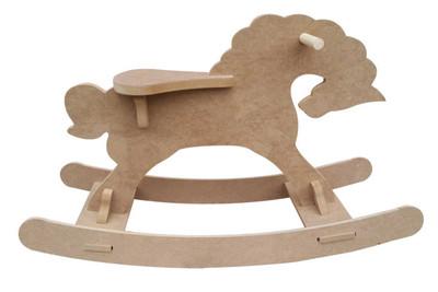 - Ahşap Sallanan At, Çocukların Binip Sallanabilecekleri Sağlamlıkta - KCHG2T (1)
