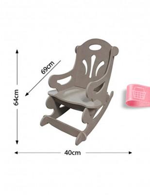 - Ahşap Sallanan Çocuk Sandalyesi, Çocukların Oturabilecekleri Sağlamlıkta - KCHG1T