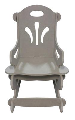 Ahşap Sallanan Çocuk Sandalyesi, Çocukların Oturabilecekleri Sağlamlıkta - KCHG1T - Thumbnail