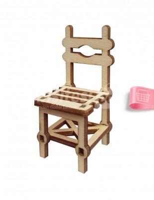 - Ahşap Sandalye - 3 x 6 cm - KMY3T