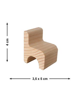- Doğal Ağaçtan Minyatür Ahşap Sandalye - KCG22T