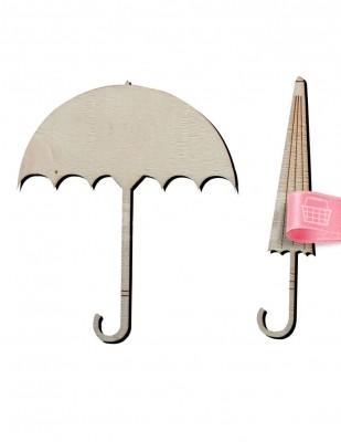 - Ahşap Şemsiyeler - Açık ve Kapalı - 10 cm - KO27T