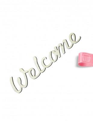 - Ahşap Welcome Yazısı - 18 x 4 cm - KY7T