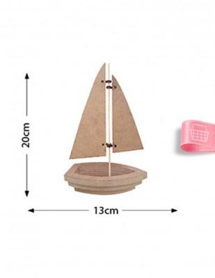 - Ahşap Yelken Figürü - Kalınlık 18 mm - KF20T