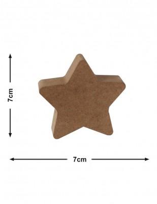 - Ahşap Yıldız - Kalınlık 18 mm - KF53T