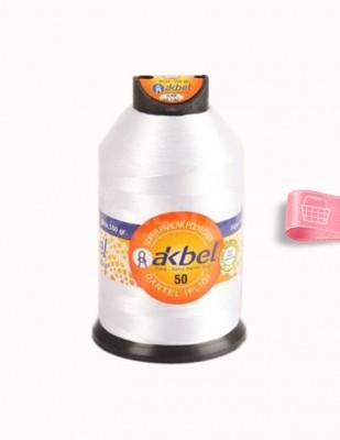 AKBEL - Akbel Dantel İpliği - No:50 - 100gr - Kar Beyaz