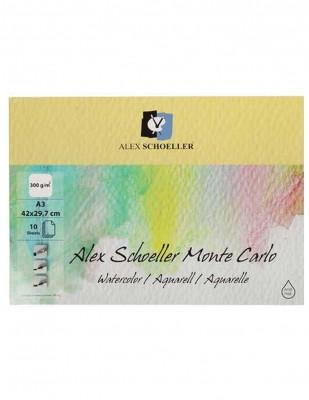 ALEX SCHOELLER - Alex Schoeller Monte Carlo Watercolor,Suluboya Defteri, A3 - 300 gr - 10 Yaprak