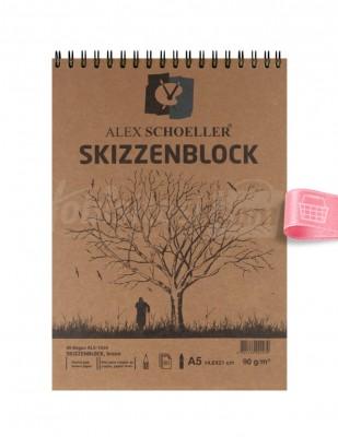 ALEX SCHOELLER - Alex Schoeller - Eskiz Defteri A5 60 Yaprak