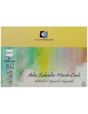 ALEX SCHOELLER - Alex Schoeller Monte Carlo Suluboya - Eskiz Defteri, A4 - 300 gr - 10 Yaprak