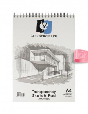 ALEX SCHOELLER - Alex Schoeller - Saydam Eskiz Defteri A4 30 Yaprak