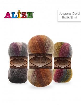 ALİZE - Alize Angora Gold Batik Simli El Örgü İplikleri