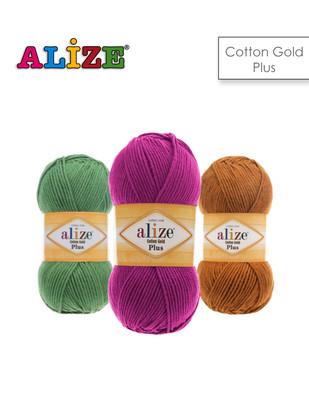 - Alize Cotton Gold Plus El Örgü İplikleri - BU ÜRÜN 5 ADET / PAKET OLARAK SATILMAKTADIR