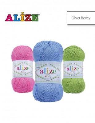 ALİZE - Alize Diva Baby El Örgü İplikleri