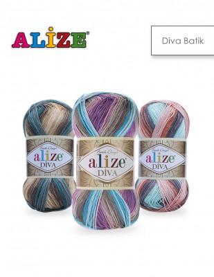 ALİZE - Alize Diva Batik El Örgü İplikleri