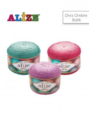 ALİZE - Alize Diva Ombre Batik El Örgü İplikleri