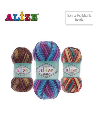 ALİZE - Alize Extra Folklorik Batik El Örgü İplikleri