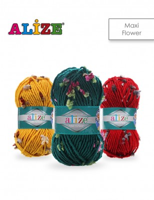 ALİZE - Alize Flower Maxi El Örgü İplikleri