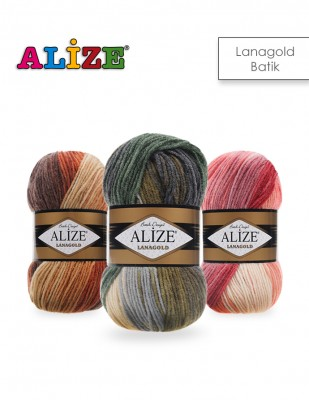 ALİZE - Alize Lanagold Batik El Örgü İplikleri