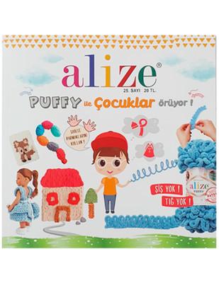 ALİZE - Alize Örgü Dergisi - Puffy ile Çocuklar Örüyor - 25. Sayı
