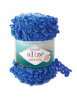 Alize Puffy Fine Ombre Batik El Örgü İplikleri - 500 gr - 73 metre - Thumbnail