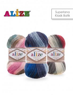 ALİZE - Alize Süperlana Klasik Batik El Örgü İplikleri
