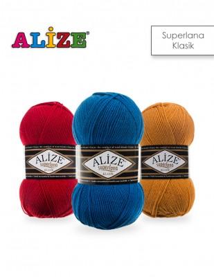 ALİZE - Alize Süperlana Klasik El Örgü İplikleri