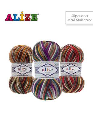 ALİZE - Alize Superlana Maxi Multicolor El Örgü İplikleri