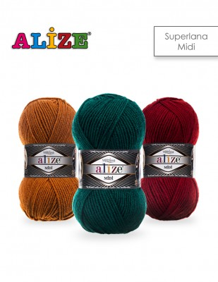 ALİZE - Alize Superlana Midi El Örgü İplikleri