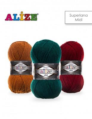 ALİZE - Alize Süperlana Midi El Örgü İplikleri