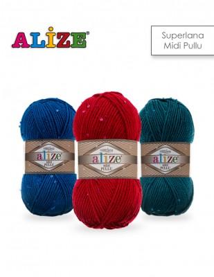 ALİZE - Alize Süperlana Midi Pullu El Örgü İplikleri