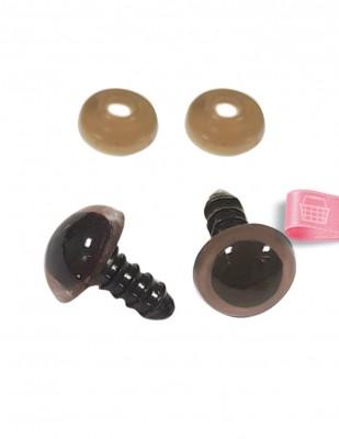 - Amigurumi Vidalı Göz - 12 mm - Çift (1)