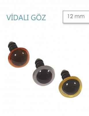 - Amigurumi Vidalı Göz - 12 mm - Çift