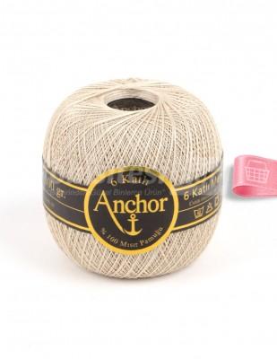 ANCHOR - Anchor 6 Katlı Dantel İpliği - No: 70 - 100 gr - Ekru