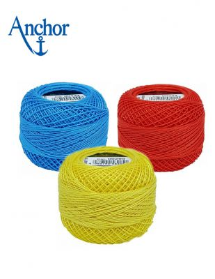 Anchor Cotton Pearl El Nakış İplikleri - No : 8 - 10 Gr