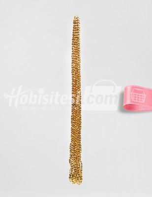 - Arpa Boncuk - Altın - 3 x 5 mm - 6 Dizi