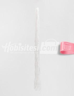 - Arpa Boncuk - Beyaz - 3 x 5 mm - 6 Dizi