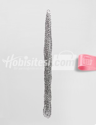 - Arpa Boncuk - Gümüş - 3 x 5 mm - 6 Dizi
