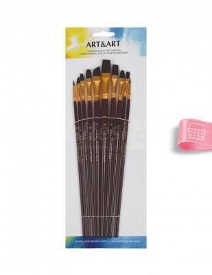 - Art & Art Fırça Seti - 10 Farklı Fırça
