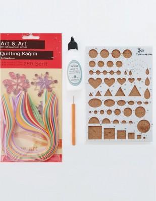 - Art & Art Quilling Set, Kağıt Sanatı Şablonu