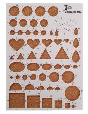 - Art & Art Quilling Tool, Kağıt Sanatı Şablonu