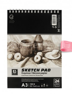 ART NATION - Art Nation Sketch Pad Eskiz Defteri - A3 24 Yaprak - 160 gr