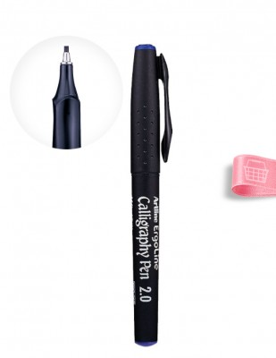 ARTLINE - Artline ErgoLine Calligraphy Pen, Kaligrafi Kalemi - 0.2 - Mavi