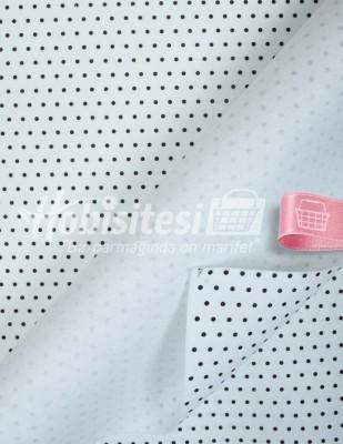 - Baskılı Keçe - Puantiyeli Beyaz/Siyah - 1mm - 41 x 41 cm