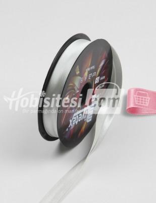 BİYETEX - Biyetex Biye - Saten - 55 Gümüş Gri - En 2 cm - 25 m