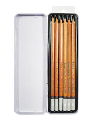 ROYAL TALENS - Bruynzeel Expression Graphite Karakalem Çizim Seti, Grafik Kalem Seti, Metal Kutulu - 6 Adet / Set (1)